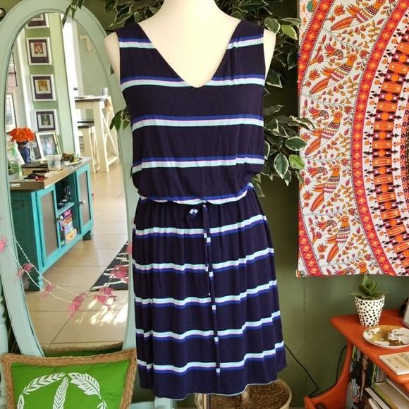 Merona Dresses & Skirts - Merona Navy Blue/Multicolor stripes dress